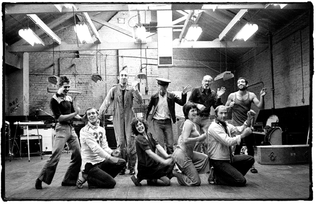 Roderic, Ben, Rod, Chris, Olly, Emil, Sheila, Rowan & Pete in paradise at the Factory.