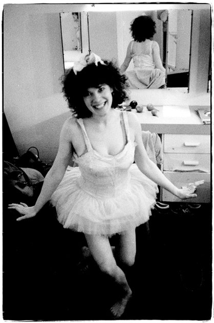 Sheila backstage with tutu