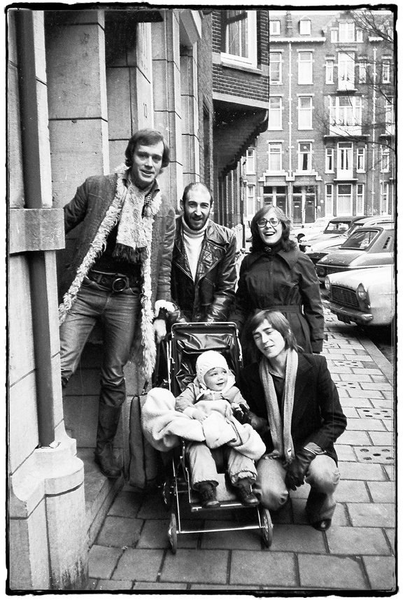 Ben, Rod, Cathy, Richard and Tim in the pram