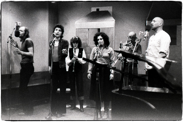 Pete, John, Sheila, Mierave, Olly, Rod in rehearsals